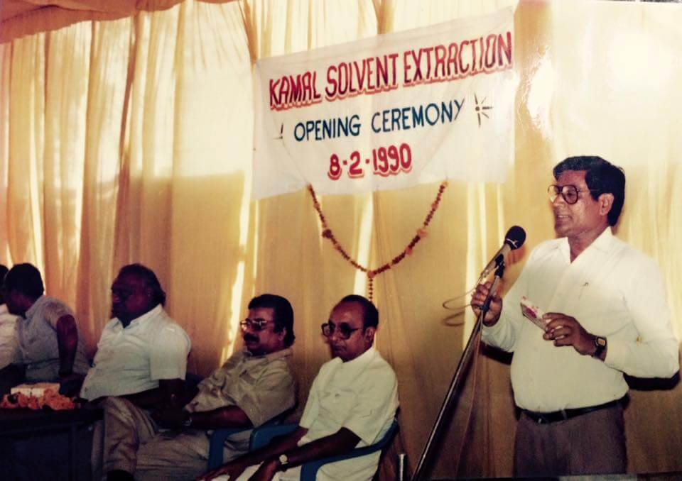 Feb 1990, Mr. Ramksihan Ji Mundra addressing the gathering at our opening ceremony.
